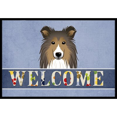 Sheltie Welcome Doormat Rug Size: 16 x 23