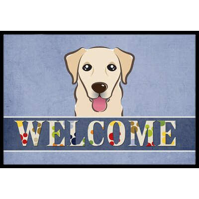 Golden Retriever Welcome Doormat Rug Size: 16 x 23