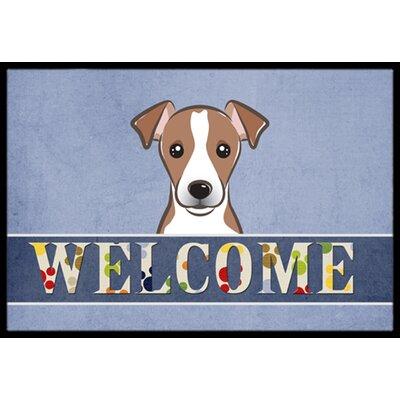 Jack Russell Terrier Welcome Doormat Rug Size: 16 x 23