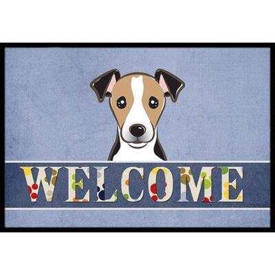 Jack Russell Terrier Welcome Doormat Rug Size: 2 x 3