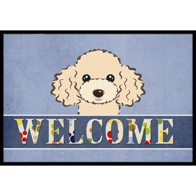 Buff Poodle Welcome Doormat Rug Size: 16 x 23