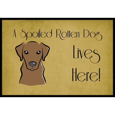 Labrador Spoiled Dog Lives Here Doormat Mat Size: 2 x 3, Color: Chocolate