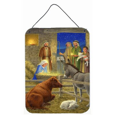 Nativity Scene by Sarah Adams Painting Print Plaque
