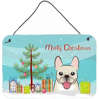 Christmas Tree and French Bulldog Painting Print Size: 8