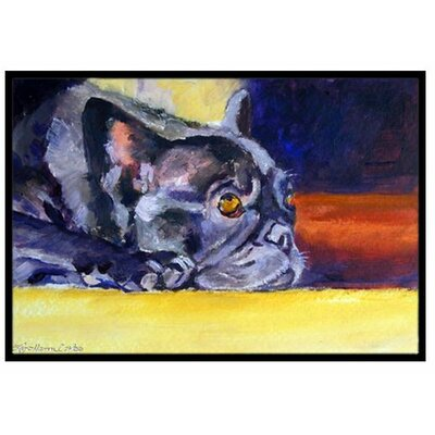 French Bulldog Sunny Doormat Mat Size: 16 x 23