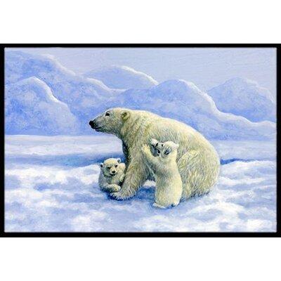 Polar Bears Doormat Rug Size: 16 x 23