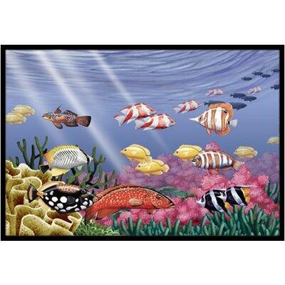 Undersea Fantasy 7 Doormat Rug Size: 2 x 3