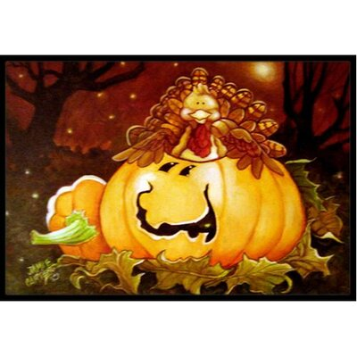 Somebody to Love Pumpkin Halloween Doormat Mat Size: 16 x 23