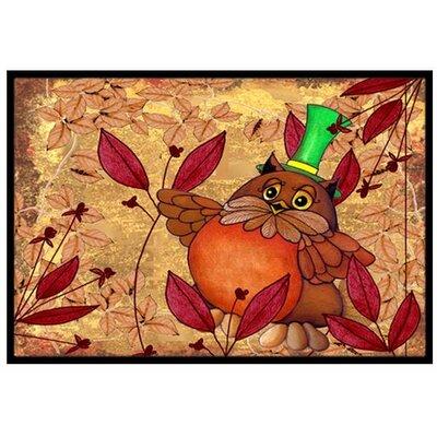 Hootie Fall Owl Doormat Mat Size: 16 x 23