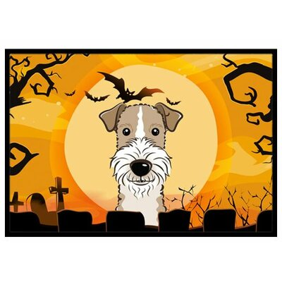 Halloween Wire Haired Fox Terrier Doormat Rug Size: 3 x 2