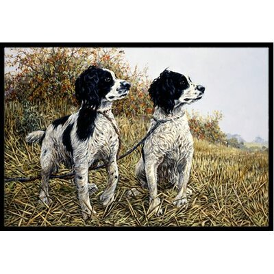 Two Springer Spaniels Doormat Rug Size: 16 x 23