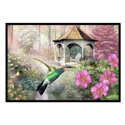 Garden Gazebo Hummingbird Doormat Mat Size: 2 x 3