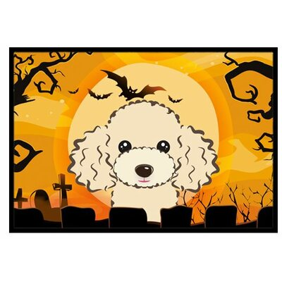 Halloween Poodle Doormat Rug Size: 2 x 3, Color: Buff