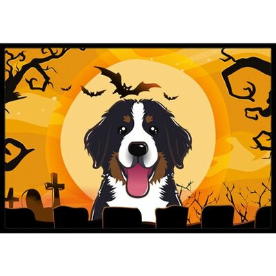 Halloween Bernese Mountain Dog Doormat Rug Size: 2 x 3