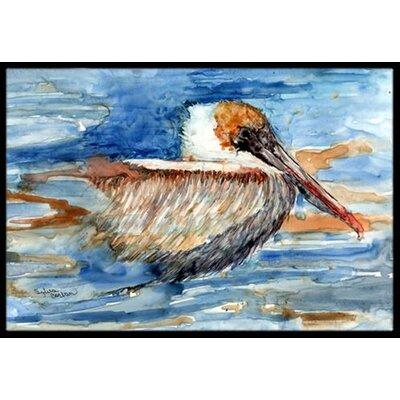 Pelican in the Water Doormat Mat Size: 2 x 3