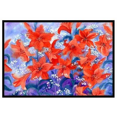 Lillies Doormat Mat Size: 2 x 3