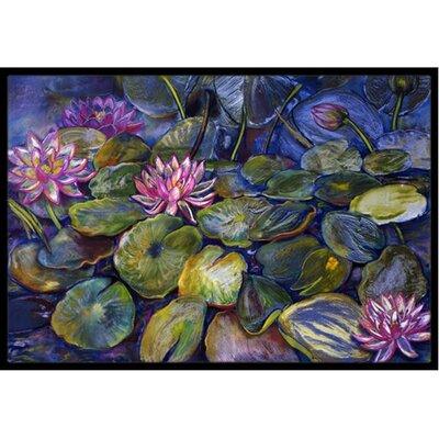 Waterlilies Doormat Rug Size: 2 x 3