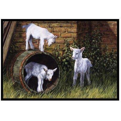 Goats Doormat Rug Size: 2 x 3