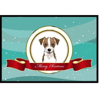 Jack Russell Terrier Merry Christmas Doormat Rug Size: 2 x 3