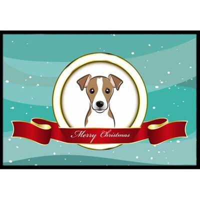 Jack Russell Terrier Merry Christmas Doormat Mat Size: 16 x 23