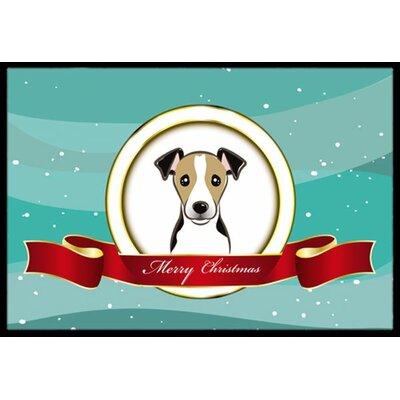 Jack Russell Terrier Merry Christmas Doormat Mat Size: 2 x 3