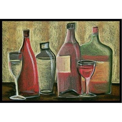 Wine Doormat Rug Size: 16 x 23