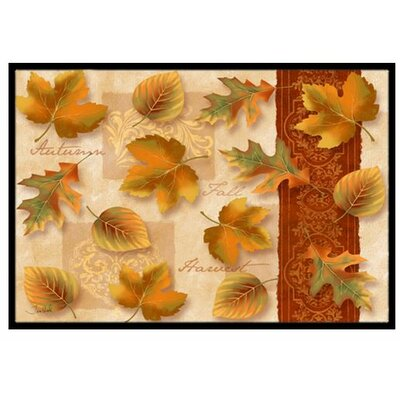 Fall Autumn Leaves Doormat Mat Size: 2 x 3