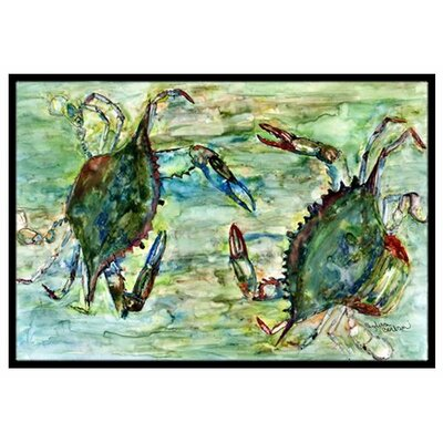 Crab Standoff Doormat Mat Size: Rectangle 16 x 23