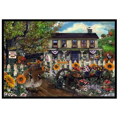 Sunflowers and The Old Country Store Doormat Mat Size: 16 x 23