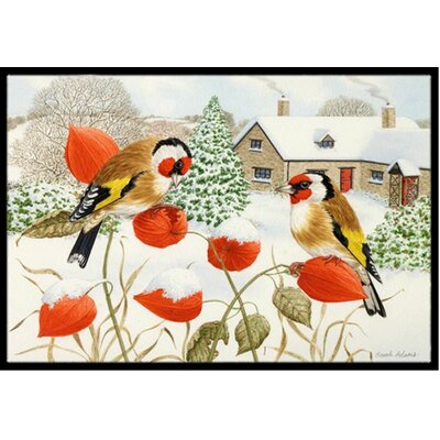 European Goldfinches Doormat Mat Size: 16 x 23