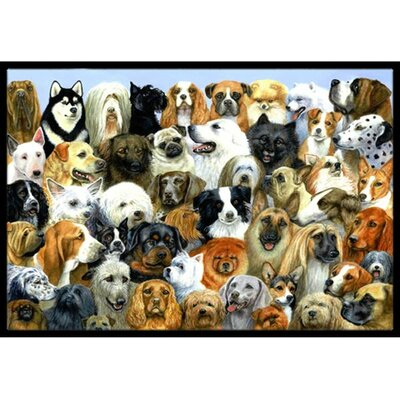 Fifty One Dogs Doormat Rug Size: 2 x 3