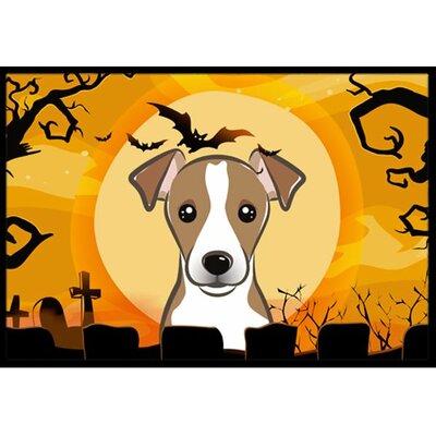 Halloween Jack Russell Terrier Doormat Mat Size: 2 x 3
