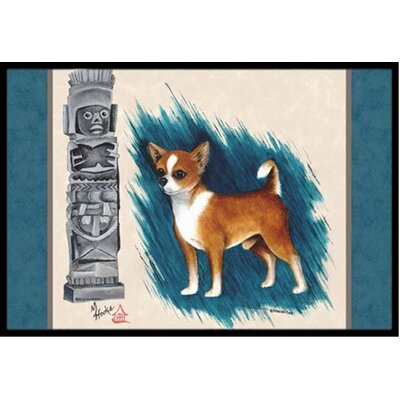 Chihuahua Totem Doormat Rug Size: 1'6