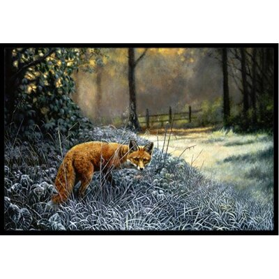Fox on the Hunt Doormat Mat Size: 2 x 3