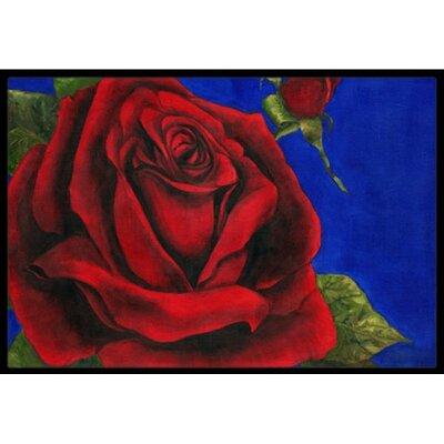 Rose Doormat Mat Size: 2 x 3