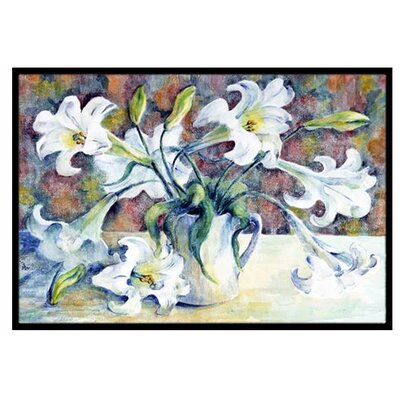 Easter Lillies Doormat Rug Size: 16 x 23