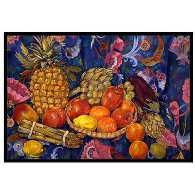 Fruit and Vegetables Doormat Rug Size: 2 x 3