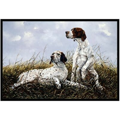 English Pointer Doormat Rug Size: 16 x 23