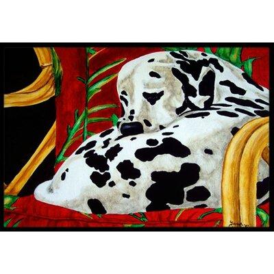Sunday Nap Dalmatian Doormat Rug Size: 16 x 23