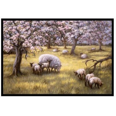 Sheep Doormat Rug Size: 16 x 23
