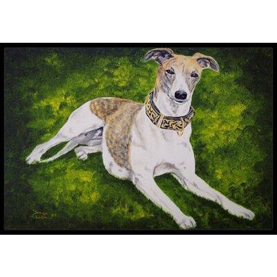 Isabella Greyhound Doormat Mat Size: 2 x 3