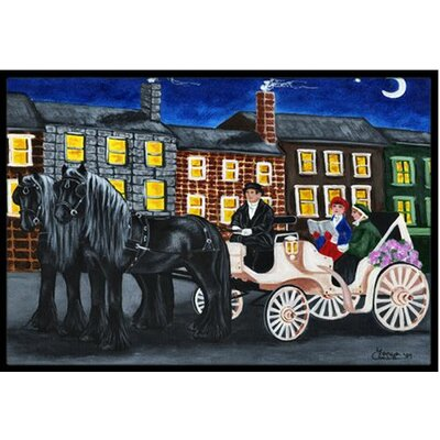 City Carriage Ride Horse Doormat Mat Size: 16 x 23