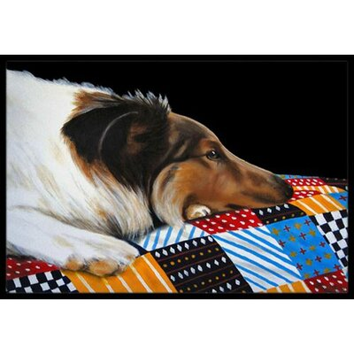 Day Dreamer Collie Doormat Rug Size: 16 x 23