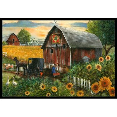 Sunflower Country Paradise Barn Doormat Rug Size: 16 x 23