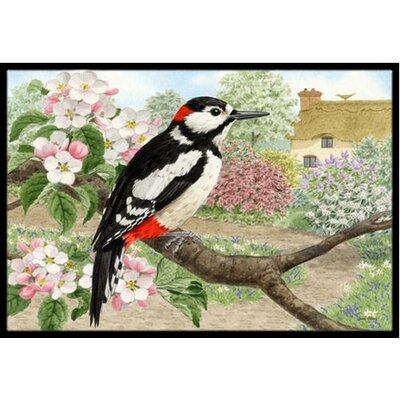 Woodpecker Doormat Mat Size: 2 x 3