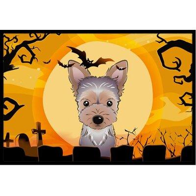 Halloween Yorkie Puppy Doormat Rug Size: 1'6