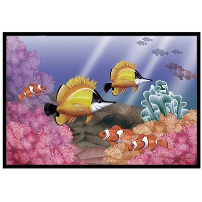 Undersea Fantasy 6 Doormat Mat Size: 2' x 3'