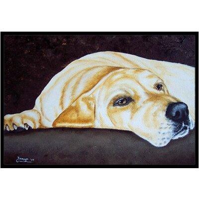 Naptime Labrador Doormat Mat Size: 2 x 3