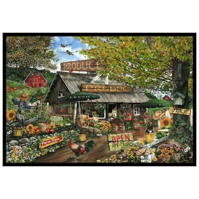 The Produce Fruit Stand Doormat Rug Size: 2 x 3