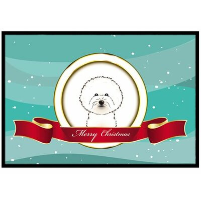 Bichon Frise Merry Christmas Doormat Rug Size: 2 x 3